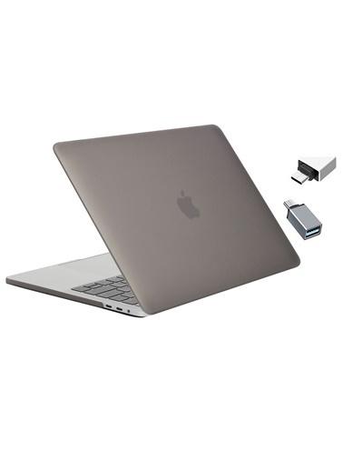 """Mcstorey Yeni MacBook Pro Type-c A1707 A1990 15.4"""" Kılıf Kapak Hard case Mat Gri"""